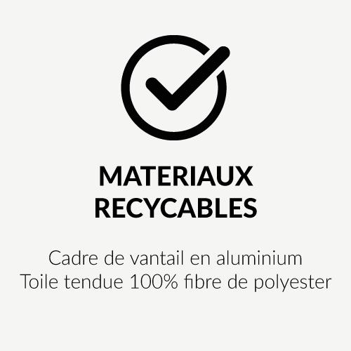 Matériaux recyclabes des vantaux de portes